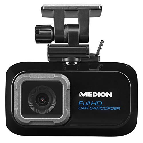 MEDION P86009 Dashcam Autokamera 1296P Full HD, Super Weitwinkel Objektiv, Loop-Recording, G Sensor, microSD-Karte