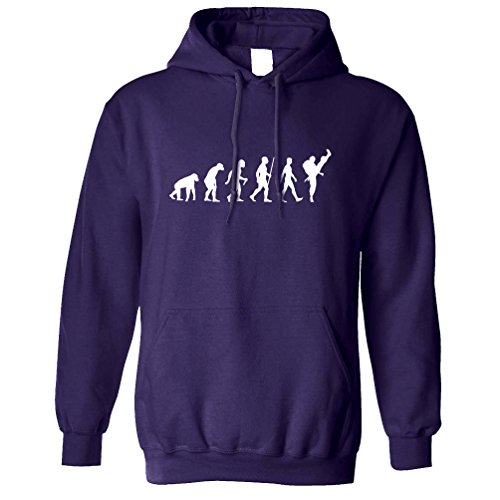 Tim and Ted Arts Martiaux Sweat à Capuche L'évolution du karaté Purple Small