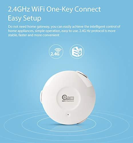 Kongnijiwa Neo Coolcam NAS-WS02W WLAN Smart-Flood-Leck-Sensor-Flut-Sensor, WiFi Wasseraustritt WiFi Detektor App Benachrichtigung Benachrichtigungen