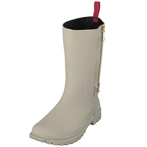 GOSCH SHOES Damen Schuhe Stiefel Gummistiefel Reißverschluss 7108-340 in 3 Farben (37, Natur)