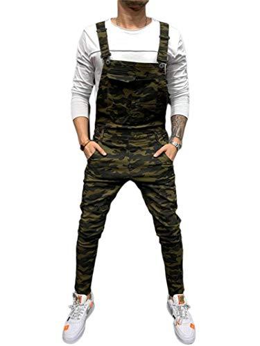 ShFhhwrl Vaqueros de Moda clásica Nuevos Pantalones Vaqueros De Moda para Hombre, Monos De Mezclilla Rectos De Calle Alta, Monos
