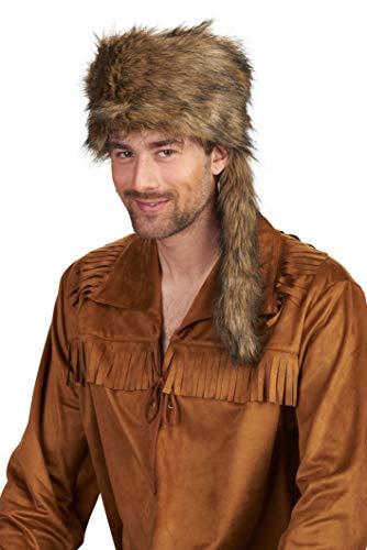 Andrea Moden 3256603 Trapper muts, voor volwassenen, jagers, bontmuts, Cowboy, themafeest, carnaval