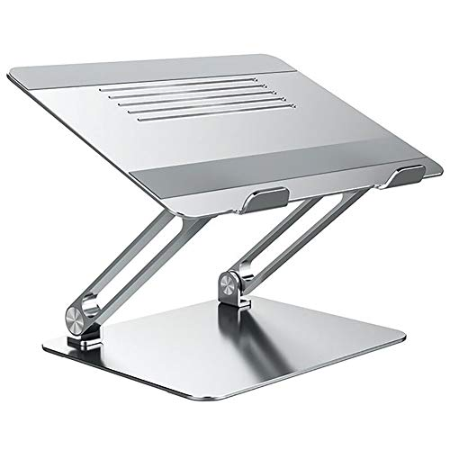GPFDM Laptop Stand, Ergonomic Aluminum Computer Stand for Desk, Adjustable Laptop Riser with Heat-Vent, Multi-Angle Holder Compatible with More 10-15.6' Laptops