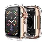 Funda Apple Watch 40mm, Protector Pantalla iWatch Series 4, Aottom Funda Apple Watch TPU Suave Ultra Delgado Protectora Carcasa, Protección Completo, Anti-Rasguños, Ultra Transparente, Recorte Preciso