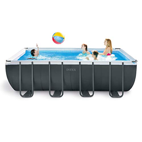 Best Intex Pool Reviews - Intex Rectangular Pool Set 18 feet x 9 feet x 52 inches Ultra XTR with Accessories