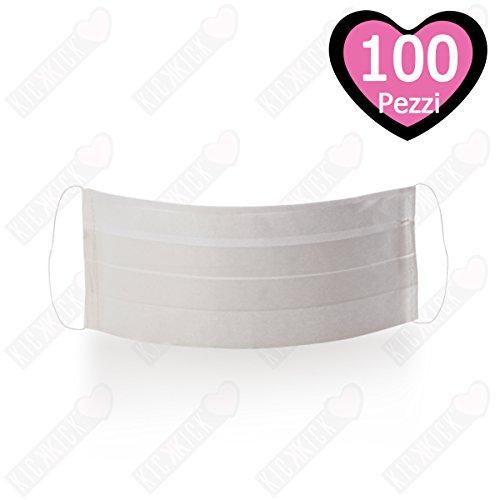 100 MASCHERINE IN CARTA 1 VELO CON ELASTICI