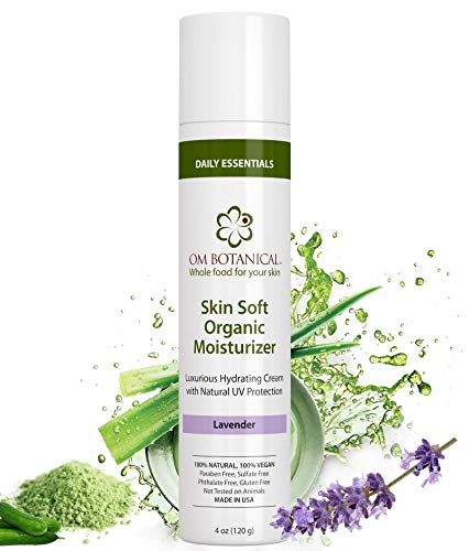 Best ORGANIC FACIAL MOISTURIZER with Sunscreen 4 oz | 100% Natural Skin Soft Daily Face Moisturizing...