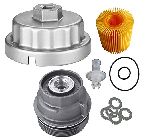 OxoxO 15620-31060 Oil Filter Cap Wrench 04152-YZZA5 Replaceable Oil Filter with Oil Drain Plug Gaskets for Toyota Lexus Highlander Scion Avalon Rav4 with 2.5L to 5.7L Engines Oil System Tool