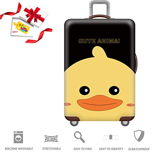 BEIAKE Funny Animals 3D Print Travel koffer beschermende hoezen slijtvaste Trunk Deksel voor 18-32 koffer