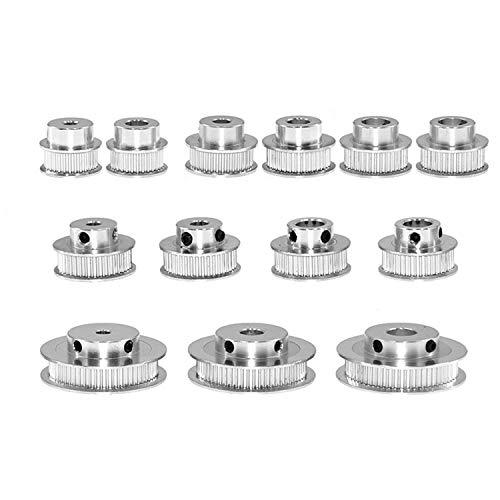 1pcs GT2 Aluminium zahnriemenrad Zahnscheibe 60 Zähne Zahnradbohrung 5 mm 6,35 mm 8 mm 10 mm 12 mm Aluminium Zahnrad Zahnbreite Bandbreite 6mm für 3D-Drucker Reprap (60 Zähne Innenloch 5mm)
