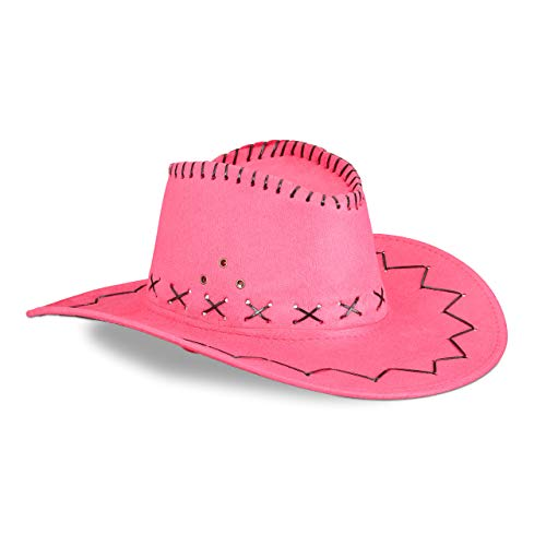 Relaxdays Sombrero Vaquero, Color rosa 16 X 35,5 X 39 Cm 10024992_52