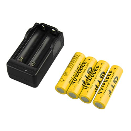 Dpatleten 4pcs 18650 3.7V 9900mAh Batería Recargable de Iones de Litio + Cargador de Enchufe de la UE Caliente