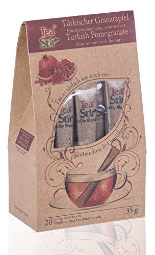 Türkischer Granatapfeltee | 20 umweltfreundliche Teesticks - hygienisch einzeln verpackt - Tea Sticks