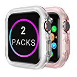 Compatible Apple Watch Case Series 4 Series 5 44mm [2 Packs] TPU Protective iwatch Case, Translucent &...