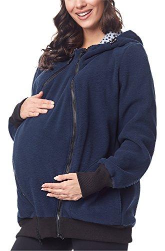 Bellivalini Premamá Sudadera con Capucha Maternidad Mujer BLV50-117 (Azul Oscuro, M)