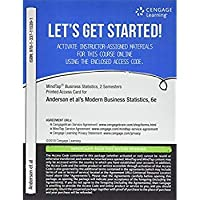 MindTap Business Statistics 2 terms (12 months) Printed Access Card for Anderson/Sweeney/Williams/Camm/Cochran's Modern Business Statistics with Microsoft Office Excel 6th (MindTap Course List)【洋書】 [並行輸入品]