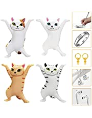 Cat Coffin Dance Pen Holder, 4 PCS Earbud Holder for Airpod, Can be Used as Photography Props, Home Decoration Ornaments or Cake Decorations