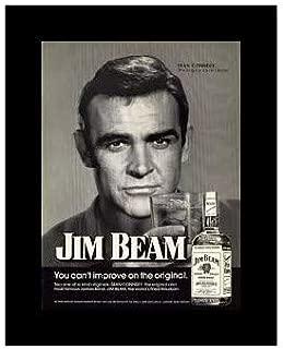 8 x 10 Framed Print James Bond Says Drink Jim Beam Vintage Old Advertising Campaign Ads