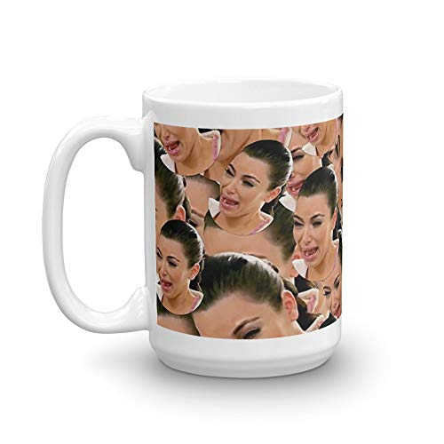 Crying Kim Kardashian. 15 Oz Coffee Mugs With Easy-Grip Handle, Suitable For Hot And Cold Drinks. Can Be Used For Home And Office