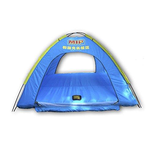 Ostoutdoor, tenda da campeggio familiare per 4persone, gonfiabile, grande, impermeabile, per campeggio, notte all'esterno, viaggio in auto, porta con cerniera
