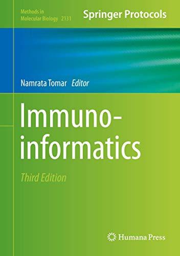 Immunoinformatics (Methods in Molecular Biology (2131), Band 2131)