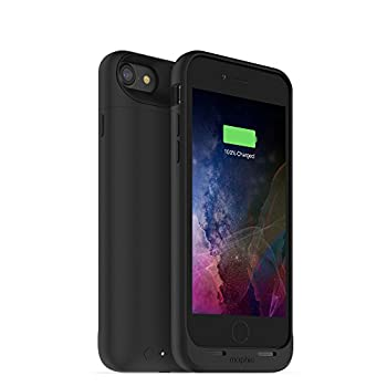 mophie 3673_JPA-IP7-BLK Juice Pack Wireless - Charge Force Wireless Power - Wireless Charging Protective Battery Pack Case for iPhone 8 And iPhone 7 – Black
