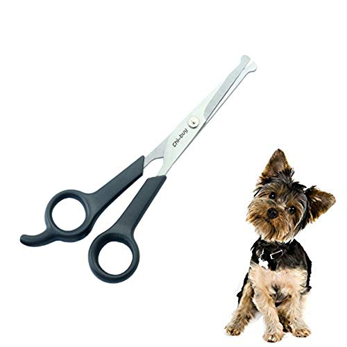 "Professional Pet Grooming Scissors with Round Tip Stainless Steel Dog Eye Cutter for Dogs and Cats, Professional Grooming Tool, Size 6.70"" x 2.6"" x 0.43"""