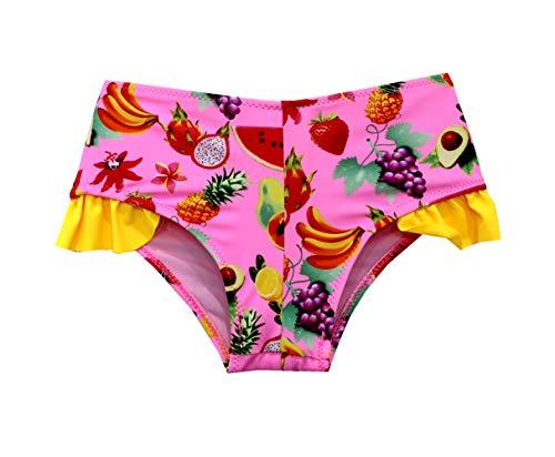 SOL Y PLAYA-Bañador niña para Natación Traje de Baño para Bebés Bañador Braguita niña Bikini niñas Ropa de baño Flor Unicornios Frutas Piña sandía Fresa plátano (3-4años, Rosa Claro-1)