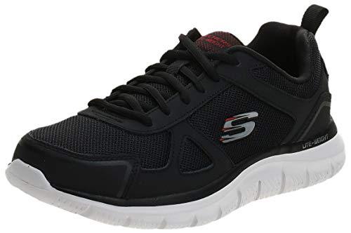 Skechers Track-scloric, Scarpe da Ginnastica Basse Uomo, Nero (Black 52631-Bbk), 44 EU