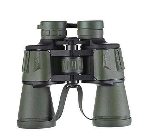 ZTYD verrekijker 10 x 50 voor volwassenen, groene verrekijker met brede FMC, oculairobservatie, grote telescoop, comfortabel, antislip design, jacht in de openlucht, reizen