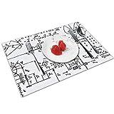 N\A Geeky Math Mathematics Tovagliette Personalizzate Set di 4 per Tavolo da Pranzo Tovagliette Decorative Lavabili Antiscivolo Tovagliette da tavola