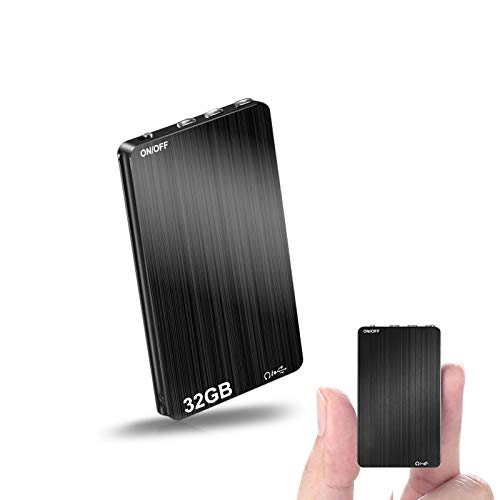 32GB Digital Voice Recorder,Henf Voice Activated Recorder with 70 Hours Recording Time,Thinnest Audio Voice Recorder,HD Recording Device with Playback and 365 Days Standby Battery for Lecture,Meetings