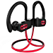Mpow Flame Bluetooth Headphones V5.0 IPX7 Waterproof Wireless headphones, Bass+ HD Stereo Wireless Sport Earbuds, 7-9Hrs Playtime, cVc6.0 Noise Cancelling Mic for Home Workout, Running, Gym Red (Renewed)