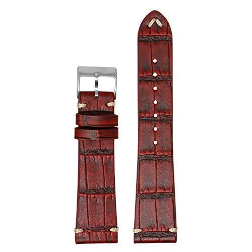 Correa de reloj de liberación rápida de piel de cocodrilo vintage – elige tu color – 18 mm, 19 mm, 20 mm, 21 mm, 22 mm, 24 mm