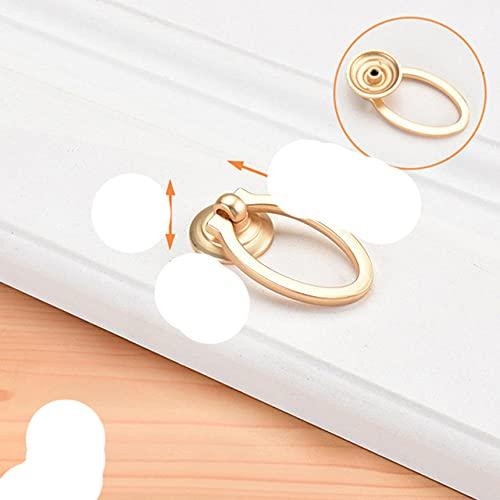 Manija de la hebilla del cajón de la puerta del gabinete dorado Aleación de zinc Imitación de cobre cepillado Manija de armario de un solo orificio Accesorios para muebles-J