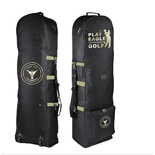 JLN-golf bag Leichte Faltbare Golfschlägertasche Reisehülle mit Rollen, Schultergurt zum Tragen von Golftaschen 32 x 33 x 20 cm