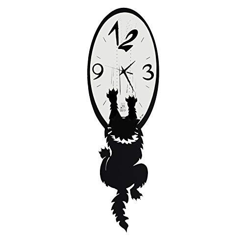 Arti & Mestieri Crazy Tommy - Orologio da Parete di Design 100% Made in Italy - in Ferro, 20 x 65 cm - Nero Goffrato