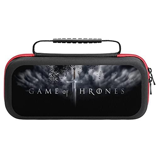 Game of Thrones Logo Tragetasche für Nintendo Switch Lite, tragbare Clutch mit Game Card Holder