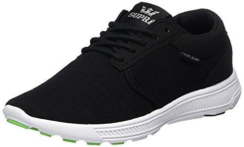 Supra Supra Hammer Run, Low-Top-Sneakers Erwachsene Unisex, schwarz - Black White - Größe: 6