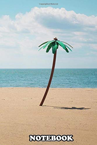 Notebook: Green Artificial Palm Tree On Seashore Picture By Maa , Journal for Writing, College Ruled Size 6' x 9', 110 Pages