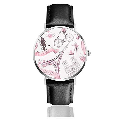 Reloj de Pulsera Citas del día de San Valentín I Whale Always Love You1 Durable Correa de Cuero de PU Relojes de Negocios de Cuarzo Reloj de Pulsera Informal Unisex