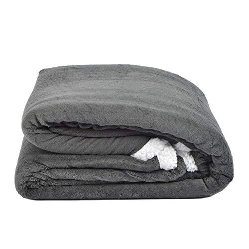 Snug Me Supersoft - Couverture douillette de luxe extra-large et incroyablement molle avec une touche de cachemire | 150 x 200 cm | Couleur: gris