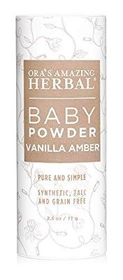 Talc Free Baby Powder, Natural Baby Powder, Gentle Vanilla Amber, Corn Free Baby Powder, Ora's Amazing Herbal
