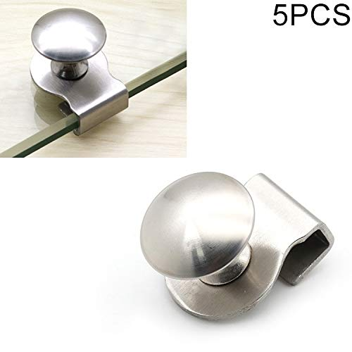 MENGYUE Handle 5 PCS Stainless Steel Wire Drawing Open Hole Free Glass Cabinet Door Handle, Size: S. handle knobs