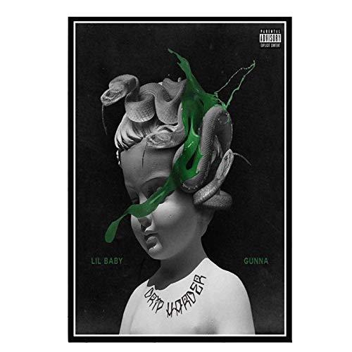 Wxueh Lil Baby & Gunna Drip Hip Hop Rap Music Singer Star Álbum Pintura Arte Imágenes De Pared Para Sala De Estar Decoración Del Hogar -50X70Cmx1Pcs-Sin Marco