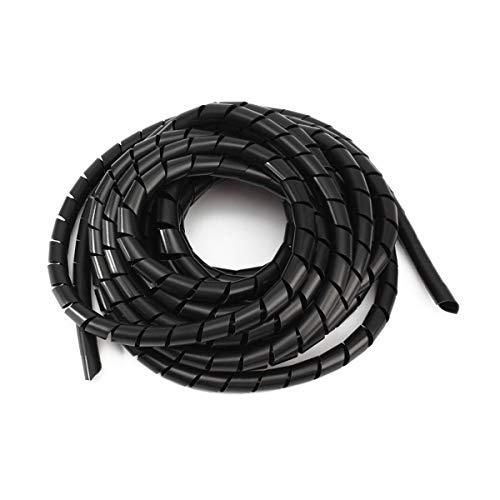 Her Kindness 15 Metros Organizador de Cables en Espiral Wire Wrap TuboAdecuado...