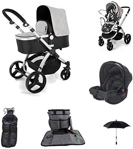 Star Ibaby Neo 3 - Cochecito de Bebé, Gris/Negro - Nuevo modelo con silla homologada hasta 22 kg