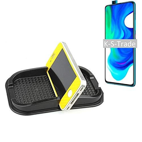 Für Xiaomi Poco F2 Pro Selbsthaftende Gummi Halterung Für Das Armaturenbrett / Schreibtisch Schwarz Armaturenbretthalterung Handyhalterung Smartphonehalterung Für Xiaomi Poco F2 Pro Anti Rutsch