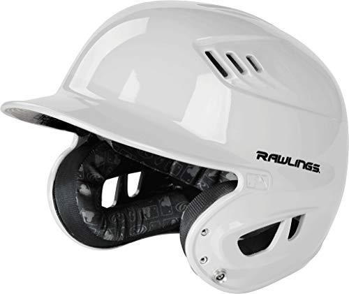 Rawlings Velo Series Gloss Baseball Batting Helmet, White, Senior