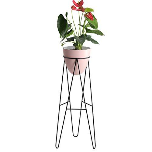 QQLOV Plant Stand Met Pot Roze Metalen Bloem Planter Met Stand Binnen Tuin Pot Succulente Cactus Moderne Vensterbank Decoratie Bonsai